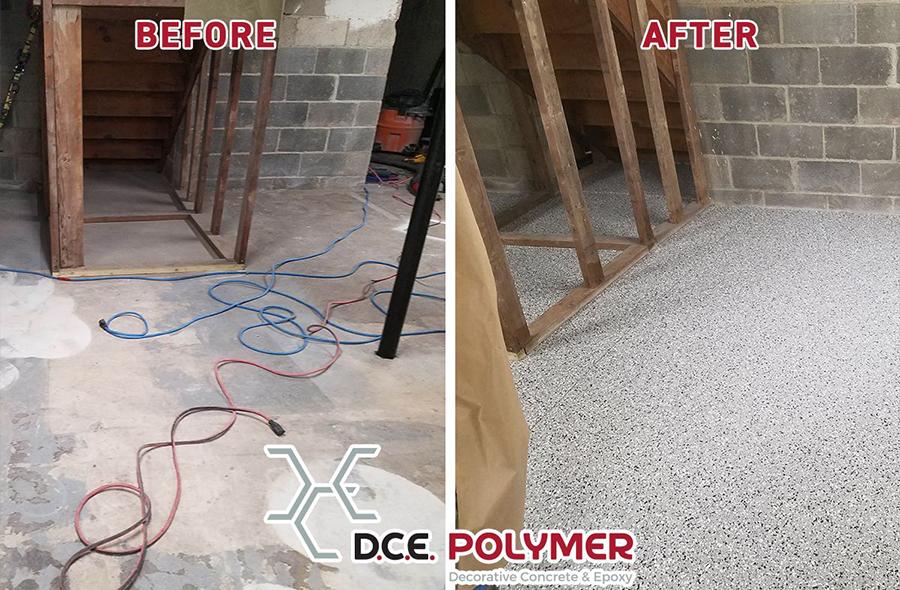 Before & After: Basement Floor