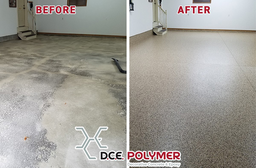 Before & After: Epoxy Chip Floor